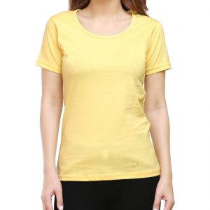 Women's Round Neck - Yellow
