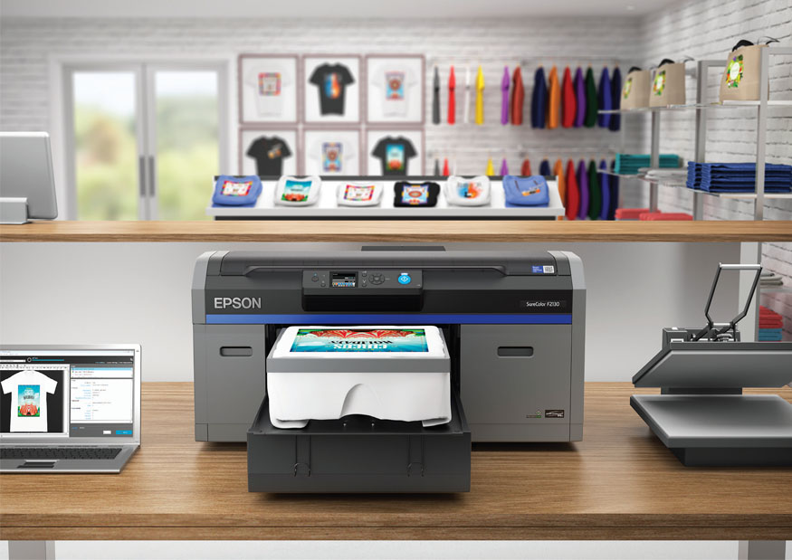 printer and t-shirts